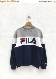 NOUVELLE année vente Fila Vintage gros Logo Sweatshirt/Fila
