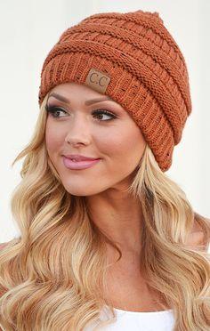 CC Confetti Knit Beanie - Rust