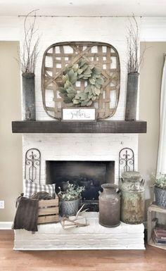 Incredible diy brick fireplace makeover ideas 41