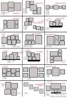 We're always looking for cheap and easy DIY wall decor ideas. A DIY gallery wall.We're always looking for cheap and easy DIY wall decor ideas. A DIY gallery wall is the perfect way to display Organisation Des Photos, Diy Organization, Organizing, Blank Wall Solutions, Picture Frame Arrangements, Photo Wall Groupings, Wall Hanging Arrangements, Photowall Ideas, Gallery Wall Layout