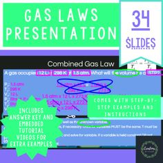 Gas Laws Editable Powerpoint Examples Included Distance Learning