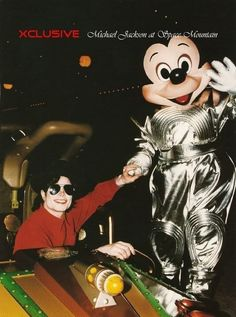 Michael Jackson and Mickey Mouse ;) 1995 | Curiosities and Facts about Michael Jackson ღ by ⊰@carlamartinsmj⊱
