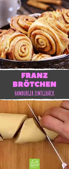 With this recipe you simply make the North German bread roll classic yourself! Franzbrötchen are simply heavenly – sweet snails with cinnamon, perfect for breakfast, as a snack in between or for afternoon coffee. German Bread, Scones Ingredients, Vegan Blueberry, Vegan Butter, Muffin Recipes, Soul Food, Food Inspiration, Sweet Recipes, Brunch