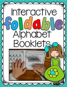 """Do you love Interactive Notebooks as much as I do? Then you'll love this set of 26 alphabet booklets! I've also made this is two different levels for differentiation. The """"advanced"""" level has the student tracing the word, while the """"less advanced"""" level has the student writing only the initial sound. They BOTH include flip-flaps for 3 of the 8 pages. $"""