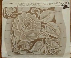 Vintage #Craftaid 2985# Handbag Pattern Leather Work Craft Transfer Tooling Purse   eBay #LeatherWork