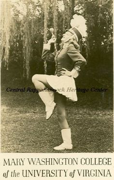 Image of Marceline Weatherly, Majorette at the Mary Washington College of the University of Virginia, 1947. (Central Rappahannock Heritage Center)