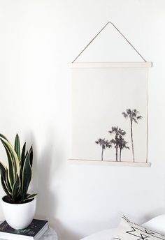 DIY fabric image transfer wall hanging | homey oh my