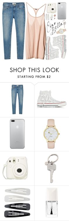 """""""Brillante"""" by alexandra-provenzano ❤ liked on Polyvore featuring MANGO, Converse, Kate Spade, Fujifilm, Paul Smith, Forever 21 and Christian Dior"""