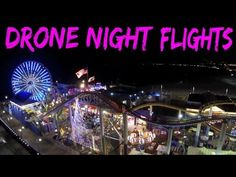 Amazing drone videos of night flights through the city!
