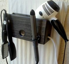 Bathroom Organizer Curling Iron Hair Dryer and by MySalonCaddy, $31.00