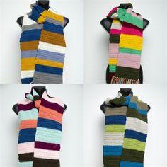 Kleurrijke+gehaakte+sjaal+met+strepen+-+Made+by+Soft+and+Silly