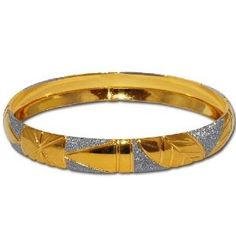 Gold And Rodium Plated Bangle Bracelets Costume Jewelry in Indian-Style 2.5 inches (Jewelry) www.amazon.com/... B0029WBBNW