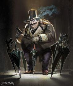 Batman & The Dark Knights of Gotham — Justin Murray The Penguin Batman, Penguin Art, Gotham Villains, Evil Villains, Joker Art, Batman Art, Gotham Batman, Batman Robin, Dc Comics Art