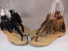 Solemate Women's Fashion Strapy Flip Flops Gladiator Fringe Beaded Flat Sandals  #FOREVER #Gladiator