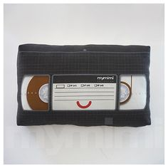 Mini Pillow - VHS Cassette ♡ Makes a great addition to any TV room & is fun to bring along anywhere! Stuffed with soft white polyester, suitable for children & adults of all ages. ✓ This listing is for 1 item. Ready-made & ships out in 1-2 business days. ✓ Professionally eco-friendly