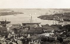 View of Harbor, Boston, 1886 by The History of Photography Archive, via Flickr.