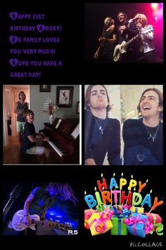Happy 21st Birthday Rocky! So proud of your accomplishments in the past year and can't wait to see more! R5 family loves you!