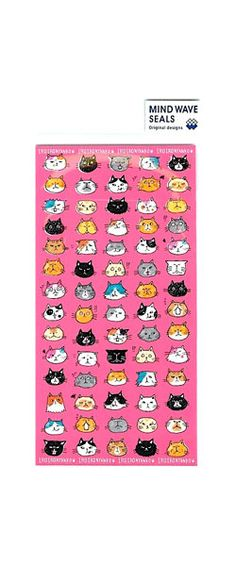 Japanese Cat Faces Sticker - happy planner  - Scrapbook - Mailing - Packaging. by niconecozakkaya on Etsy