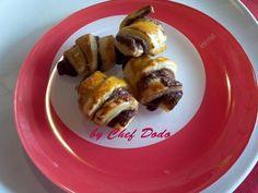 Mini-croissants à la pâte à tartiner chocolat, Recette de Mini-croissants à la pâte à tartiner chocolat par Chef Dodo - Food Reporter