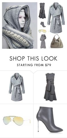 """""""Pastel Trench Coats"""" by sanskrit7 ❤ liked on Polyvore featuring CÉLINE, Gucci, Ray-Ban, Balenciaga, UGG Australia, women's clothing, women's fashion, women, female and woman"""