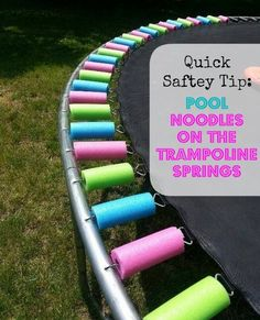 Awesome idea to keep the kids safe and not get pinched from the trampoline springs #Kids #saftey