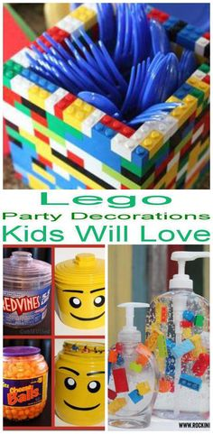 Lego Party Decorations! The best decorations for Lego theme parties that kids and adults will love. Find food, snacks, table decor, balloons, streamers and more. Cool and amazing Lego party decoration ideas. Find the best Lego party decorations now!