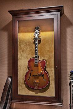 Guitar display cabinet - traditional - family room - sacramento - Sharp Design