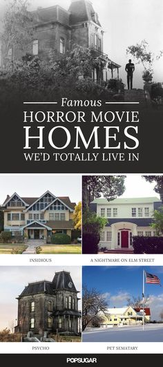 From adorable country cottages to expansive palaces, these 13 horror-movie homes are definitely worth the risk of ghosts!