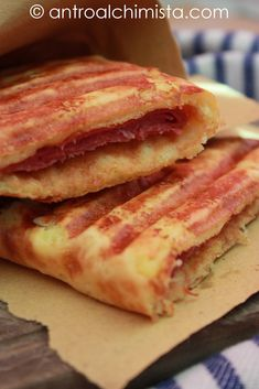 Toast Farcito (Dukan) - Toast stuffed with ham and cheese (Dukan)
