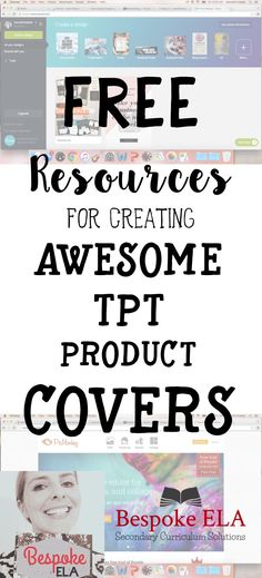 This blog explores awesome FREE resources for designing eye-catching covers for your TpT products! This is an excellent resource for any teachers who are new to Teachers Pay Teachers.