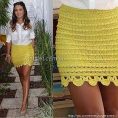 Quien tiene el patrón de esta falda 😍ayúdenme Crochet Skirts, Knit Skirt, Crochet Clothes, Lace Skirt, Girl Dress Patterns, Blouse Patterns, Skirt Patterns, Coat Patterns, Tricot Simple