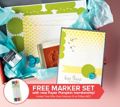Stampin' Up! monthly creative kit plus FREE markers!