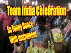 Funny Dance With Instrument/team india celebration