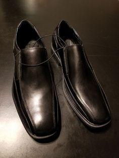 732374ec4ab Kenneth Cole New York Mens Leather Slip On Dress Shoes 10.5 MED Black Loafer  NEW