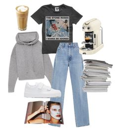 """""""Chilling at home"""" by angelbecca ❤ liked on Polyvore featuring Kaffe, Goldsign, Nespresso, Jil Sander and Taschen"""