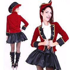 2018 Club Queen -- Pirate Captain Lady Costume-- XS to Small Size and more Disney Costumes for Women, Peter Pan Costumes for Women, Women's Halloween Costumes for Halloween Costumes, Pirate Halloween, Pirate Costumes, Disney Costumes For Women, Peter Pan Costumes, Fancy Dress, Pirates, Skater Skirt, Gowns