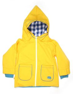 Yellow Asley jacket with white zipper - Albababy