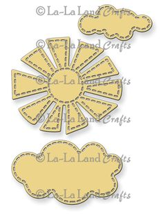 Stitched Sun and Clouds (Set of 3) Die