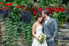groom kisses bride on the forehead in front of a wall of flowers at Fernhill House Hotel Garden Wedding, Summer Wedding, Stunning Summer, Event Organiser, Absolutely Stunning, Beautiful, Old World Charm, Hotel Wedding, Wedding Pictures