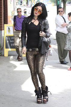 Kat Von D - Kat Von D Shows Off Her Leopard Print Power