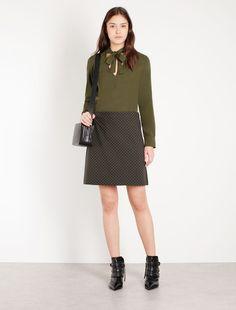 Jacquard skirt, kaki - Marella