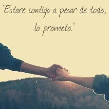 """""""Estaré contigo a pesar de todo, lo prometo."""" #love #amor #frasesDeAmor http://www.unpedacitodecielo.com/frases-de-amor/"""