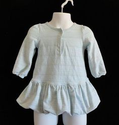 Size 12-18 Mo. Girls ~ *Old Navy - Lt. Blue w/Silver Glitter Stripes! Nice