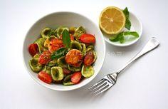 Seasaltwithfood: Asian Pesto With Orecchiette Pasta And Scallops