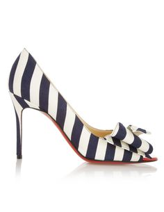 Christian Louboutin striped heels.