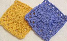 Transcendent Crochet a Solid Granny Square Ideas. Inconceivable Crochet a Solid Granny Square Ideas. Free Crochet Square, Crochet Square Patterns, Crochet Blanket Patterns, Crochet Motif, Crochet Hooks, Crochet Afghans, Afghan Patterns, Crochet Edgings, Motifs Granny Square