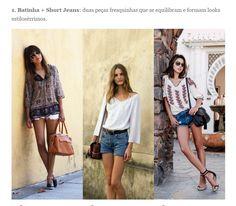 Batinha e short jeans