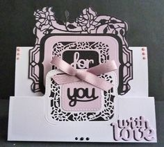 Card made using the flip flop dies