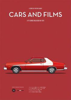 Car from Starsky And Hutch. CarsAndFilms by Jesús Prudencio