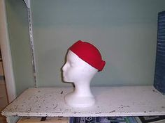 Lancaster Red  Pillbox Felt Hat - Made in USA  $8